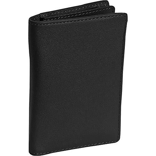 Royce Leather Deluxe Note Jotter Organizer (One size, Black)