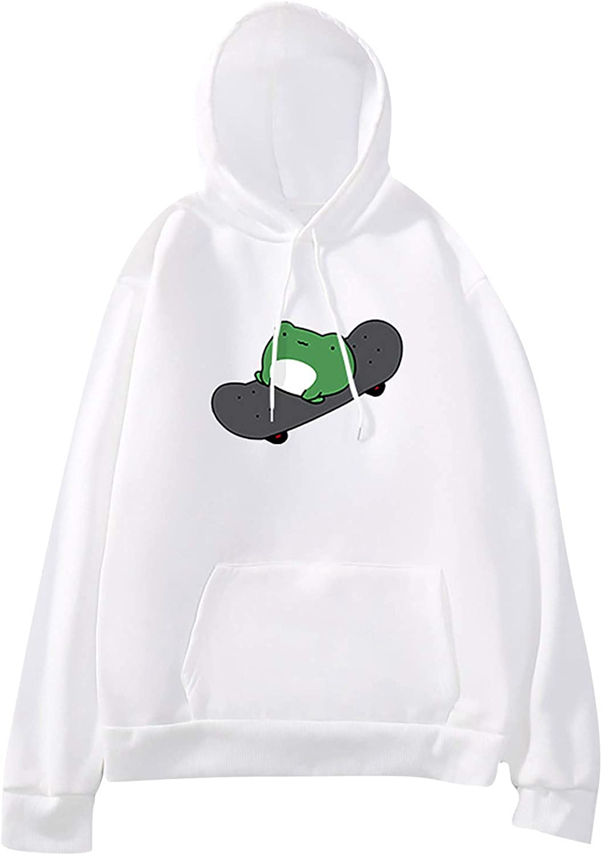 UOCUFY Hoodies for Women, Women's Casual Pullover Long Sleeve Tops Cartoon Cute Hoodies Teens Girls Dinosaur Sweatshirt