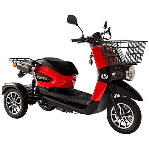 Rolektro E-Carrier-25 Elektroroller 1000W Dreirad 25km/h 3-Rad Elektromobil E-Scooter Roller EU-Zulassung