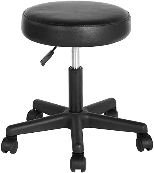 FurnitureR PU Leather Home Office Swivel Chair Desk Chair Computer Chair Black