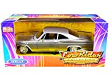 Welly Diecast 1965 Chevy Impala SS 396 Gray Metallic Low Rider Collection 1/24 Diecast Model Car by Welly 22417