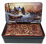 Jane Parker Classic Light Fruit Cake 16 Ounce (1 pound) Fruitcake in a Dercorative Collectible Holiday Tin