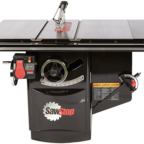 SawStop ICS73230-52 230V Three Phase 7.5 HP 17.8 Amp Industrial Cabinet Saw with 52 in. T-Glide Fence System