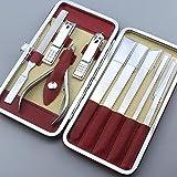 Juego de cuchillos de pedicura profesional 9 piezas de piel muerta es manicura onicomicosis cuchillo de pie herramienta de pedicura doméstica