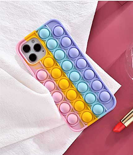N\C YXKJ - Cover Compatibile con iPhone 12 / iPhone 12 PRO, [Decompressione] Custodia Morbida in Silicone 3D Cover Antistress con Bolle Sensoriali - Colore