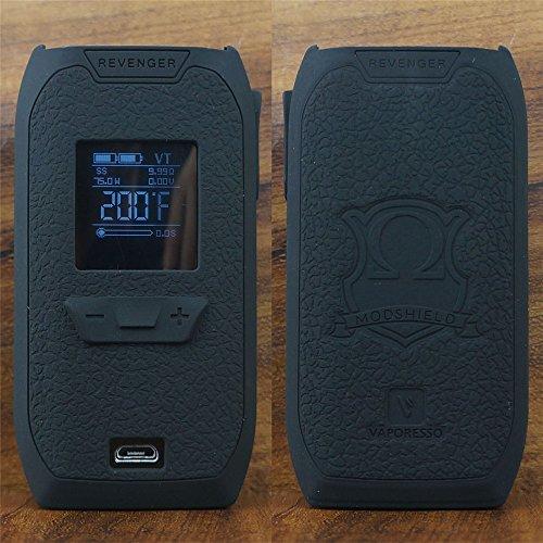 ModShield for Vaporesso Revenger 220W TC Silicone Case ByJojo Skin Sleeve Cover Wrap Shield (Black)