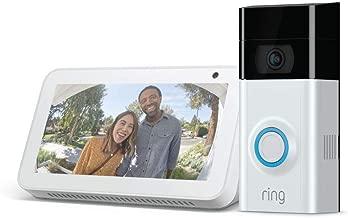 Ring Video Doorbell 2 with Echo Show 5 (Sandstone)
