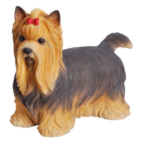 Hi-Line Gift Ltd Yorkshire Terrier - Figura de pie para Perro, Pintada a Mano