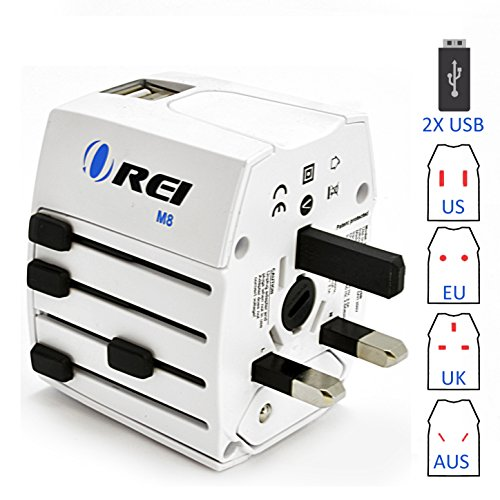 Travel Adapter, OREI Worldwide All in One Universal Power Converters...