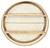 habeig Design Bambus Wandregal rund 60 cm Durchmesser Outdoor Gartenregal (Natur #47464)