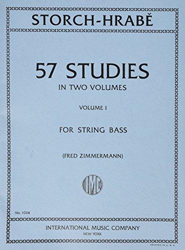 STORCH y HRABE - Estudios (57) Vol.1 para Contrabajo (Zimmermann)