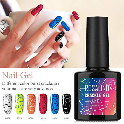 iBoosila Knistern Cracking Nagellack Set Leuchtend Gel Nägel Set Anfänger Crackle für 6 Flaschen Kit