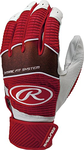 Rawlings Workhorse 950 Series Adult Batting Gloves,Scarlet,XL