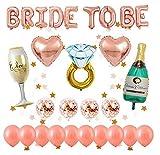 Globos oro rosa decorados para despedida de soltera, 1 pcs BRIDE TO BE letras,...