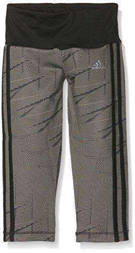 adidas Mädchen Training 3/4 Hose, Black/Grey Feather S12/Matte Silver, 128