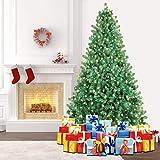 SHareconn Artificial Verde Árbol de Navidad, Material PVC, Soporte en Metal con 400 Luz LED, 228cm