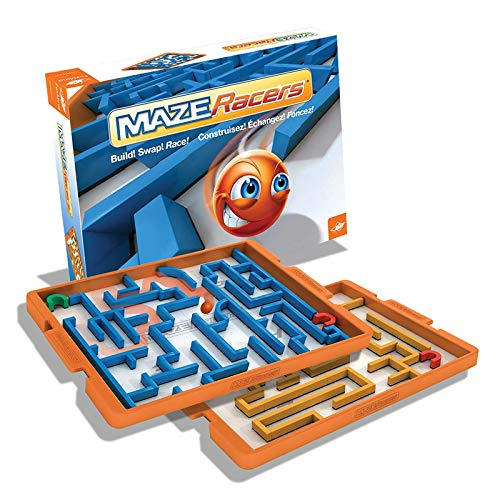 FoxMind Games, Maze Racers, Exciting Building and Racing Board Game - 2 or 4 Players, for Kids Ages 8+