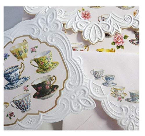 Carol Wilson Teacups 10 ct Embossed Note Card Set For Arts Sake