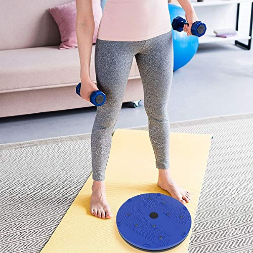 Rolgo1 Accursedness Twister Stepper Red/Blue for Fitness, 5 in 1 Magnetic Disk Hot Sweating Body Shapers Slimming Tummy Twister Rotating Machine (Solid Plastic) Weight Loss Women & Men
