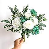 JINLIAN205-SHOP decoración hogar Estilo nórdico Simulación Flor Color de Rosa Salón Dormitorio Estudio Escritorio Decoración Artesanía Flores secas (Color : A)