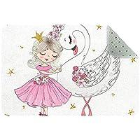 エリアラグ軽量 バレエ少女白鳥 フロアマットソフトカーペットチホームリビングダイニングルームベッドルーム