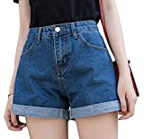 Romastory Women's Vintage Denim Shorts Juniors High Waisted...