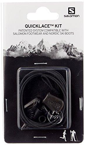 Salomon Quicklace Kit, Set di Lacci, Nero, L32667200