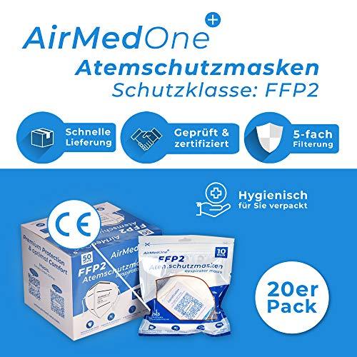 NEU: FFP2 Atemschutzmaske mit offiziellem Zertifikat CE2163, Mundschutz Maske 5-lagig [20 Stück] 3D Gesichtsmaske faltbar - 7
