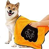 Toalla para Mascotas, Toalla para Perros, Perros Albornoz de Microfibra, para Perros, Gatos, Mascotas, Toalla Microfibra Ultra Absorbente para Agua Secado