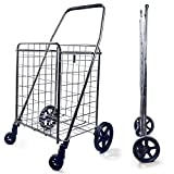 Wellmax Grocery Shopping Cart with Swivel Wheels (Medium Size and Large Size)