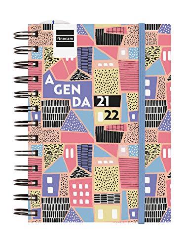 Finocam Agenda 2021 2022 1 Día página Septiembre 2021, Junio 2022 10 meses y Julio Agosto resumidos 8º, 120x169 Mini-Institut City Español
