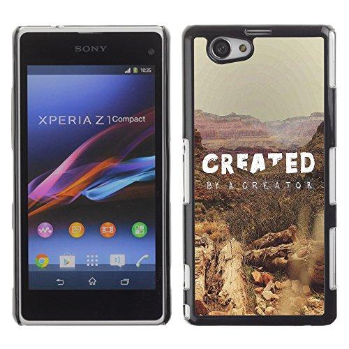 DREAMCASE Bibelzitate Bild Hart Handy Schutzhülle Schutz Schale Case Cover Etui für Sony Xperia Z1 Compact D5503 - Erstellt durch den Schopfer