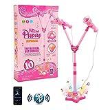 Kids Karaoke Machine, Karaoke Toys with Adjustable Stand & 2 Microphones, Wireless Connection
