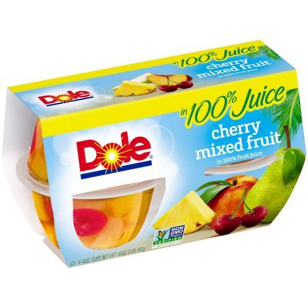 DOLE FRUIT BOWLS  Cherry Mixed Fruit in 100% Fruit Juice 4 Ounce 4 Count Pack of 6
