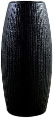 Gespout Vase Simple Vase en Céramique Noir Mariage Banquet Fête Décor Accessoires Vase de Fleur Ornement Décoratif pour Maiso