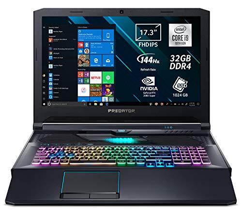 Predator Helios 700 PH717-72-917D Notebook Gaming, i9-10980HK, Ram 32 GB DDR4, 1024 GB PCIe NVMe SSD, Display 17.3  FHD IPS 144 Hz, NVIDIA GeForce RTX 2080 Super 8 GB GDDR6,Windows 10 Home, Nero