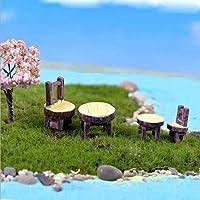 RICISUNG ドールハウス ミニチュア クラフト 飾り 盆栽 ガーデン マイクロ風景飾り テラリウム置物 妖精の庭 風景DIY ブレ2個