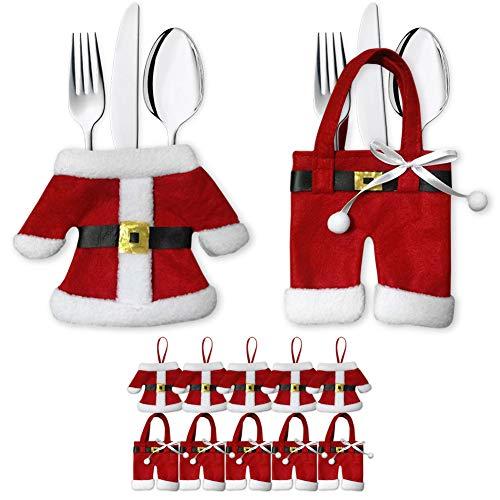 Besteckhalter Weihnachten Bestecktasche 6er Set Besteckbeutel Serviettentasche