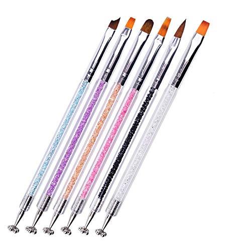 LAEMALLS 6 Pcs Aimant Bâton Set stylo d'aimant multifonctions pour Magie Magnétiques 3D Chat Oeil Effet Vernis Poudre Gel Outil de Manucure Nail Art, pour DIY, Salon#3