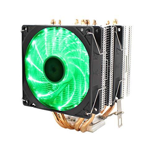 Refrigerador silencioso de CPU con ventiladores de enfriamiento dual, con control de temperatura inteligente para la computadora PC, para cables de 1 tubería de calor de Intel 4, 775/1150/1151/115 U8Z
