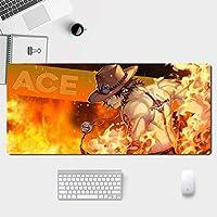 NARUTOマウスパッド大型ゲームアニメマウスパッド、PC用ステッチエッジ付き防水滑り止めマウスマット、ラップトップ-A_800X300X3mm