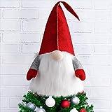 D FantiX Gnome Christmas Tree Topper, 25 Inch Large Swedish Tomte Gnome Christmas Ornament...