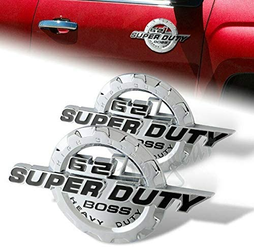 Black 6.2L V8 Super Duty Detroit Mall Boss Badge 3D Emblem Trunk Cheap mail order specialty store Fender Side