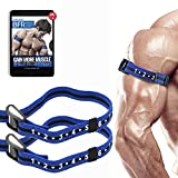 Occlusion Training Bands by BFR Bands PRO Slim Model, 2 Pack, Blood Flow Restriction Bands with 1' Width - Comfort Wrapped Metal Buckle, Extra Thick Elastic, Multiple Patents Pending