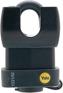 Yale Y221/52/125/1 Weatherproof Closed Shackle Padlock, 52mm, Pack of 1, Suitable for Outdoor use