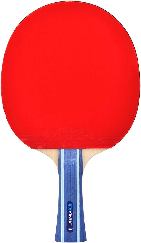 HXFENA Raquetas de Tenis de Mesa,7 Capas de Madera Pura 7 Estrellas Bate de Tenis de Mesa Profesional Mango CóModo,para Actividades Familiares Club Deportivo/A/mango largo