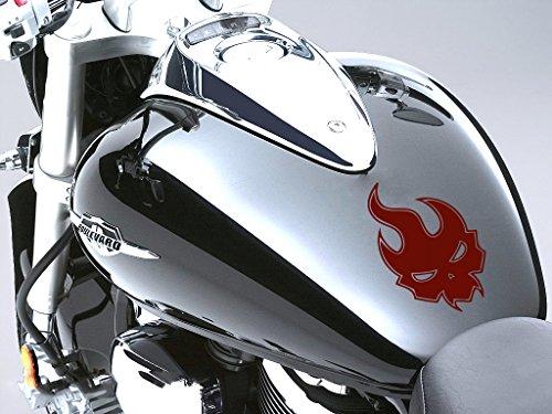 Evil flamme Moto Réservoir à carburant Sticker voiture en 100 mm x 160 mm – Bordeaux