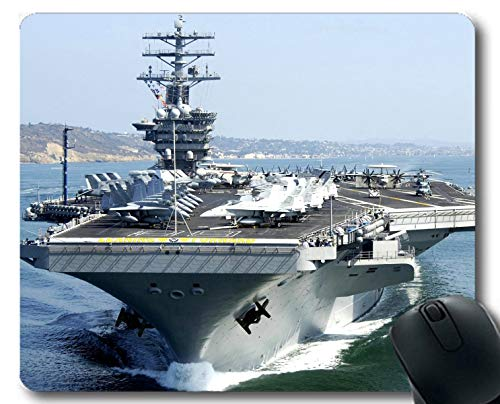 Yanteng Mouse Pads,Aircraft Carrier USS Nimitz Warship Gaming mousemats Multi YT80