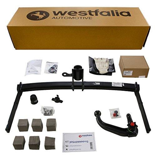 Westfalia abnehmbare Anhängerkupplung für Audi A6 Limousine / A6 Avant und A7 (BJ ab 10/2014) im Set mit 13-poligem fahrzeugspezifischen Westfalia Elektrosatz