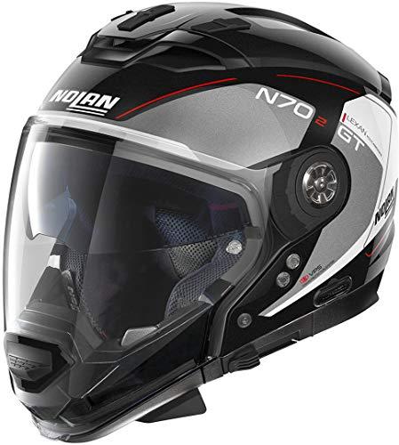 Nolan N84 Target N-COM VPS - Casco integral, color negro mate, talla XXL